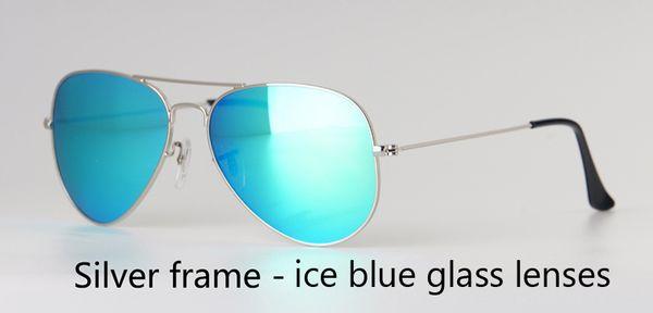 серебро голубой лед