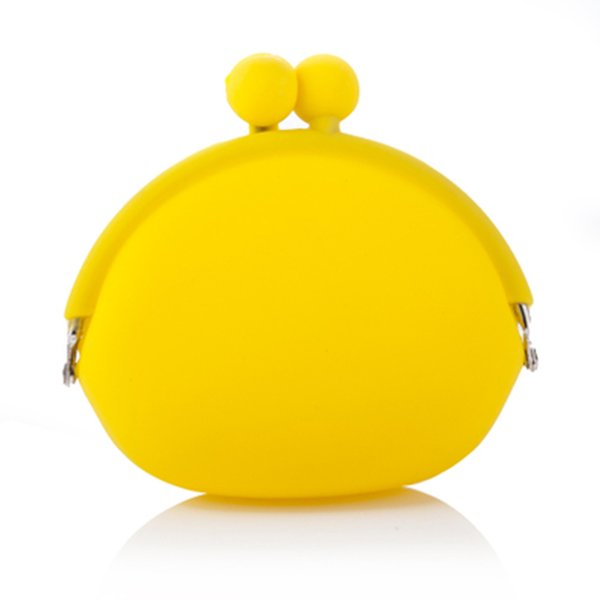 Women New Stylish Cute Silicone Round Coin Purse Wallet Card Rubber Key Phone Bag Pouch 6 Color choose