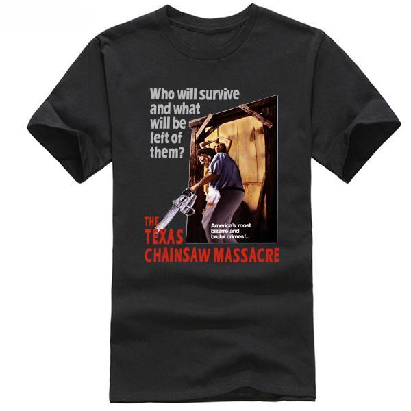 The Texas Chainsawer Massacrerer Movie Poster men T-Shirt / Who Will Survivee Leatherfaceer