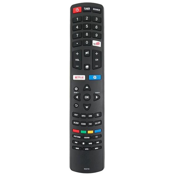 Nouveaux RC311S de contrôle à distance remplaçons pour TCL Smart TV LED LCD 06-531W52-TY01X
