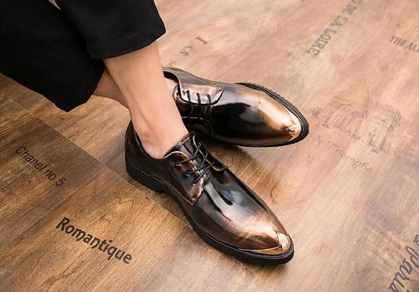 Nuovo arrivo di lusso da uomo scarpe eleganti da cerimonia con paillettes da sposa scarpe moda punta a punta con lacci Oxford scarpe da tendenza uomo taglia 38-43