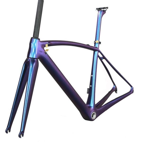 Quadros completos super leves da bicicleta da estrada do carbono do peso T1000 com pintura a mais nova do camaleão no baixo preço
