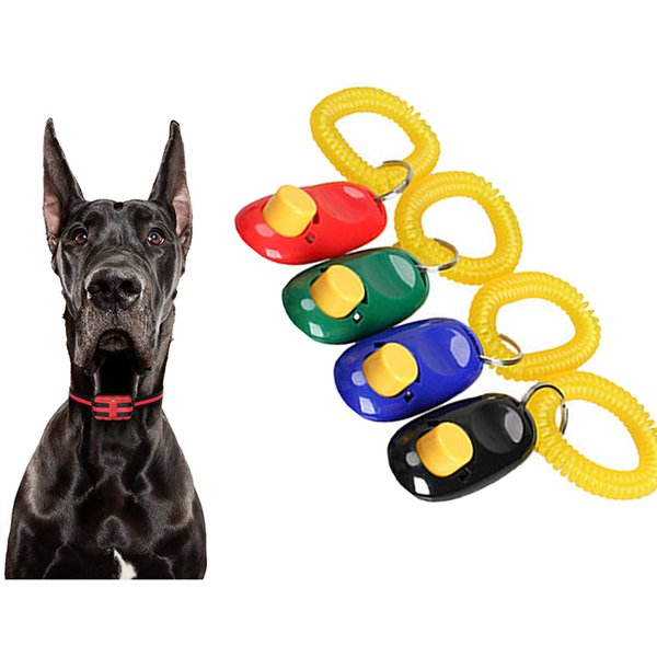 Dog Trainer Pet Clique Clicker Training Aid pulso Dog Strap Treinando portátil Pulseira Pulseira grátis DHL