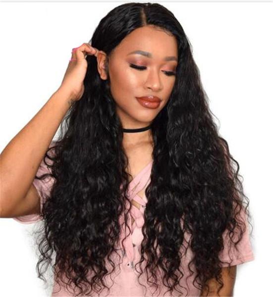 Nouvelle Arrivée Brésilienne Vierge Remy Cheveux Humains Vague Profonde Bouclée Afro-Américaine Sans Colle Full Lace Wig Front Lace Wig Pour Femmes Noires