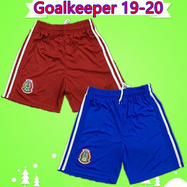Gold Cup 2019 MEXICO soccer shorts mens goalkeeper red blue football pants national team 19 20 CHICHARITO LOZANO DOS SANTOS H.LOZANO