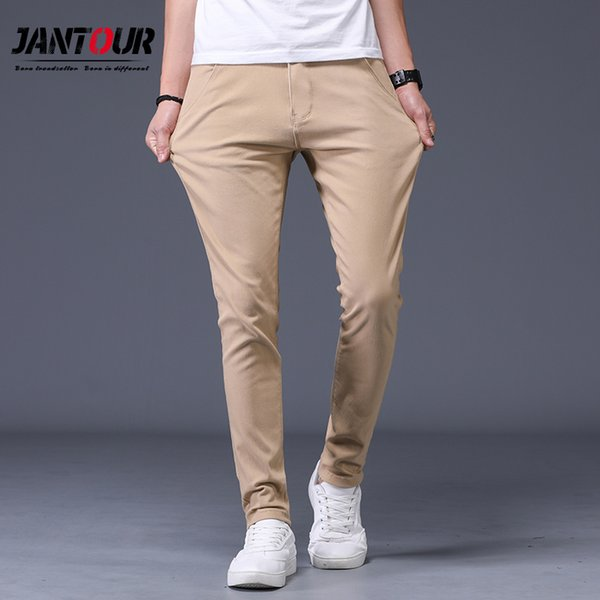 2019 new Fashion cotton Pants Men Spring Summer Classic Fashion Slim Fit Casual Male Trousers High Quality 6 Colors Optional