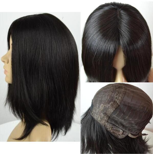 Kosher Wigs 12A Grade Light Black Color #1b Finest Mongolian Virgin Human Hair Silky Straight 4x4 Silk Base Jewish Wig Fast Free Shipping
