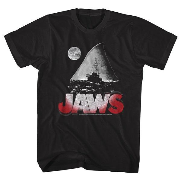 Челюсти 1975 американский триллер Фильм Фильм Pitch Dark Night для взрослых T-Shirt Tee