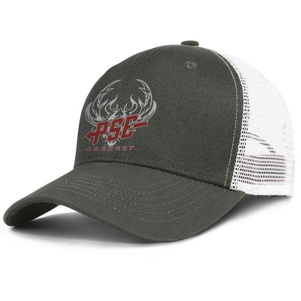 Womens Mens Flat-along Adjustable Pse Archery Logo Hip Hop Cotton Trucker Hat Summer Hats Military Caps Airy Mesh Hats For Men Women Black
