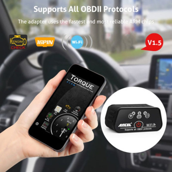 ELM327 Wireless Wifi OBD2 OBDII Scanner Auto Diagnostic Engine Tool OBD2 Car Code Reader Scan Tool For iOS Android PC