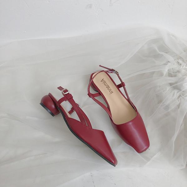 Yaz Kadın Ayakkabı 2019 Moda kadın Deri Ayakkabı Kadın Kapalı Toe Flats Kadın Boyutu 35 36 37 38 39