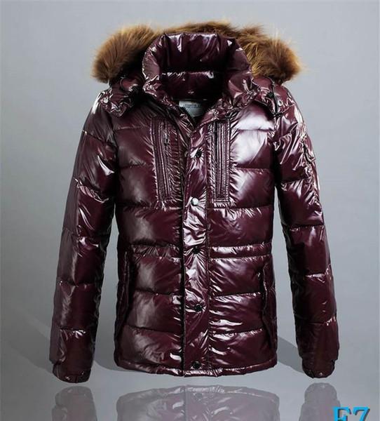 Mens конструктора куртки перо Стиль вниз пальто с капюшоном Мех толстый теплый Ветровка Мода Марка куртка на молнии Роскошные пальто зимы ClothesE7