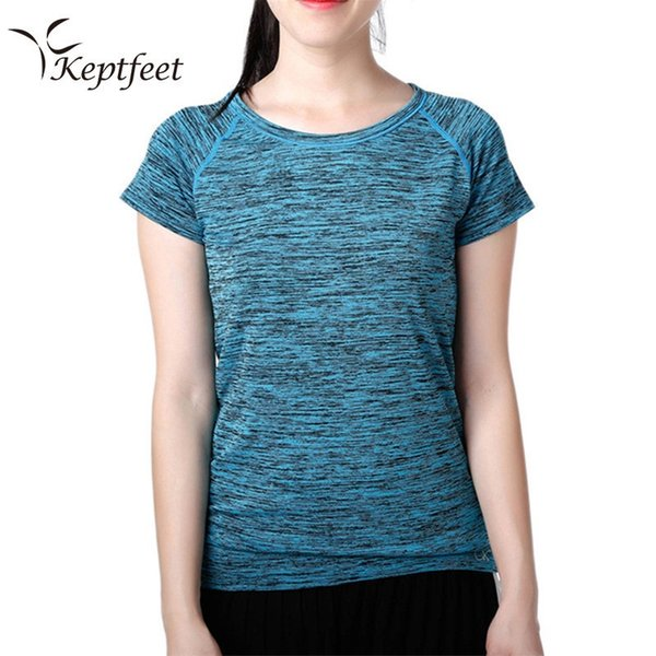 Women Quick Dry Sport Shirt,Professional Short Sleeve Breathable Exercises Yoga Top T-Shirts For Gym Running Fitness #40646