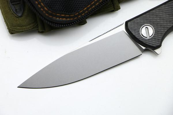 Green thorn HATI CF 3D bearing Flipper folding M390 blade carbon fiber tc4 titanium handle camping outdoor fruit knife EDC tools4 orders