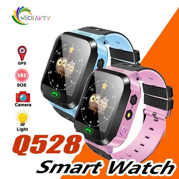 Q528 GPS Children Smart Watch Anti-Lost Flashlight Baby Smart Wristwatch SOS Call Location Device Tracker Kid Safe vs Q750 Q100 Q42 DZ09 U8