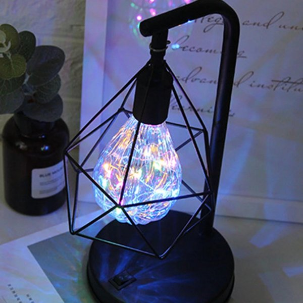 Forma semplice lampadina LED a risparmio energetico moderno Camera Retro Notte decorativo Desk Comodino lampada a pile regalo JK0175