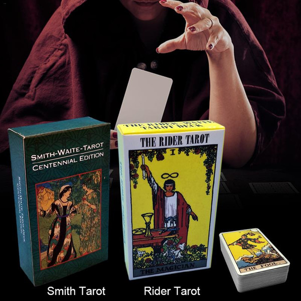 2019 new Full English Radiant Rider Wait Tarot Cards Smith Tarot Deck Board Game Family Playing Cards Gift