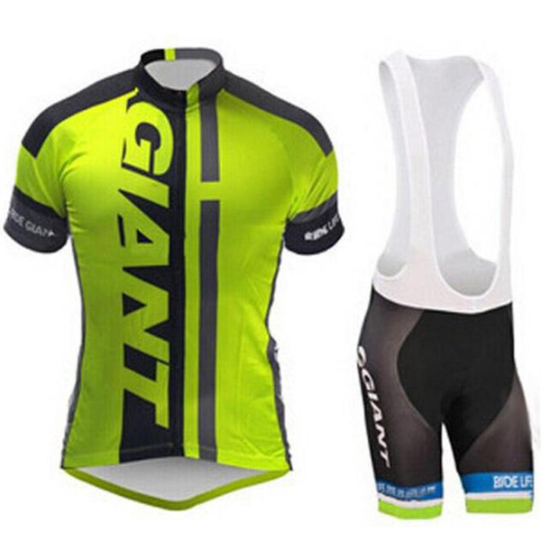 2019 Giant Team Cycling Short Sleeves Jersey (Bib) Shorts Set da corsa Bicicletta Maillot Ciclismo Mtb Bike Abbigliamento sportivo e pad 9d Gel