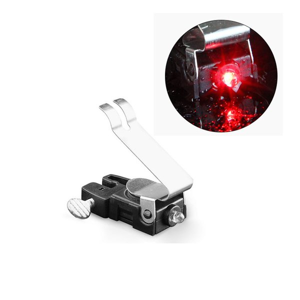 Portable Mini Brake Bike Light Mount Tail Rear Bicycle Cycling Led Light New with 1*CR1025 battery(include)