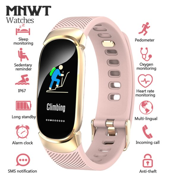 Mnwt Brand Smart Sport Watch For Ios Android Pedometer Heart Rate Monitor Blood Oxygen Fitness Tracker Smart Wristband Watches Cheap Sales Watches
