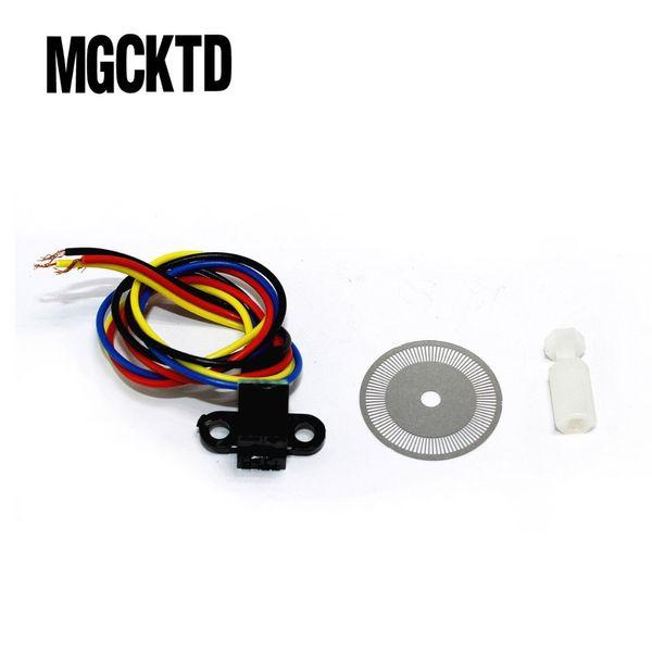 10pcs, Photoelectric Speed Sensor Encoder Coded Disc code wheel for Smart car freeshipping