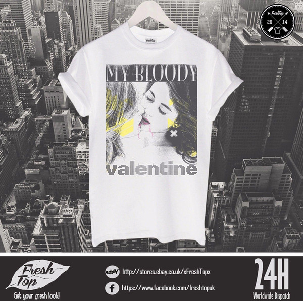 Mon T-shirt Sanglant Saint Valentin Cadeau de Concert Top Rock Band Kevin Shields Bilinda