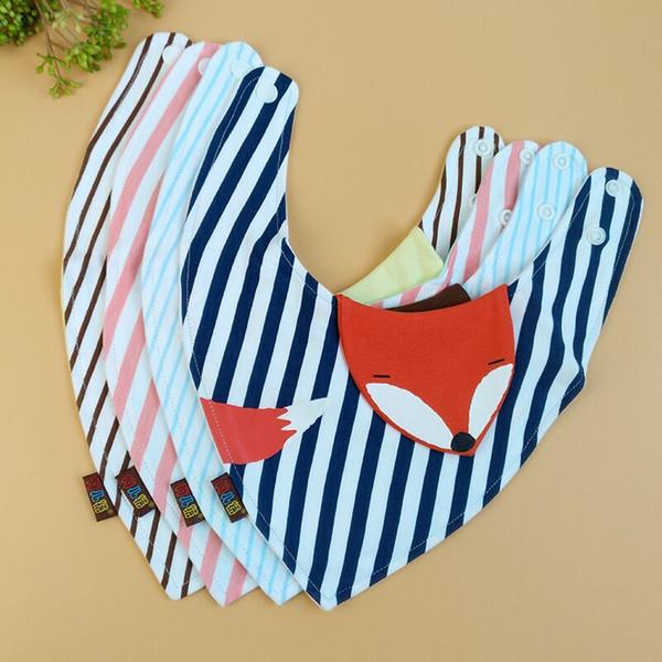 Bavoirs triangle de bébé Burp Cloths Infantile 3D de dessin animé serviette en coton slobber serviette bavoirs pour bébé