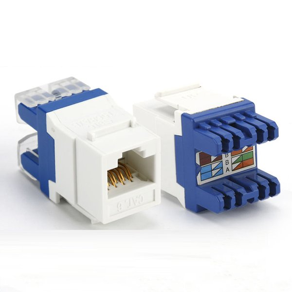 ELECALL CAT6 10pcs Tool-free UTP network module FJ45 connector Information socket Computer Outlet cable adapter
