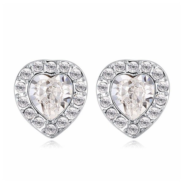 embellished With Crystal From Swarovski Branded Design Stud Earrings Dance cocktail party dress accessories