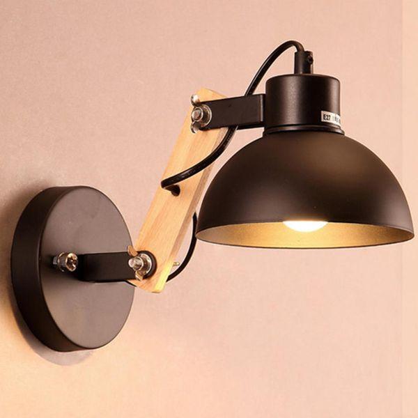 220V Energy Saving Modern Nordic Industrial LED Wall Light iron Wall Lamps Corridor Bed Bedside bathroom Night Lights Home Decor