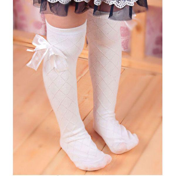 UK Baby Girls Ruffle Bowknot Thigh High Socks Kids Infant Over The Knee Stocking