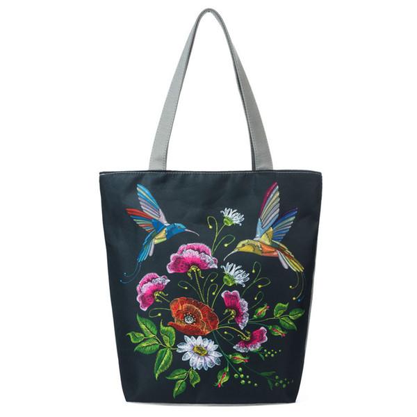 Cheap Fashion Shoulder bag tote bag Handbag National Wind Canvas Tote Casual Beach Bags Women Shopping Drop shipping