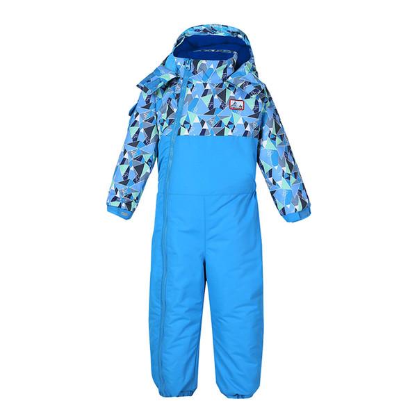 2018 Baby Boy Girl Ski Suit jumpsuit children Waterproof Windproof Ski Snowboard Children Jumpsuit Kid Hooded One-piece