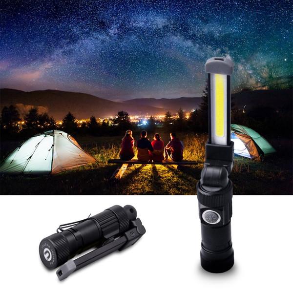 Multifunction COB LED Work Light Mini Pen Light Work Inspection Pocket Flashlight Torch Lamp USB Rechargeable With Bottom Magnet Clip