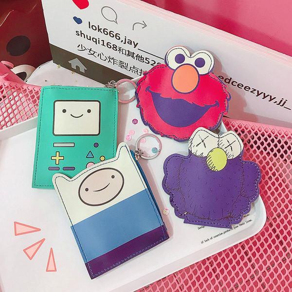 Jolies filles Sesame Street Porte-monnaie KWAS Elmo Bande Dessinée Pièce de monnaie Change Sac Porte-cartes Étudiant Porte-clés Suspendu