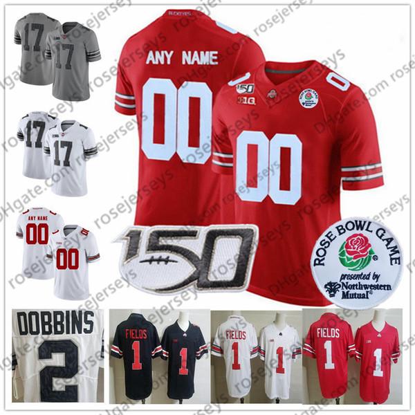 Personalizado Ohio State Buckeyes Campos Jersey personalizado 2019 NCAA 150 ANOS 5 Garrett Wilson 14 KJ Colina Jr. 17 Chris Olave 80 CJ Saunders