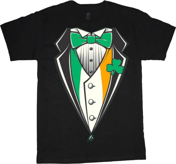 mens designer t shirts shirt Big and tall shirts for men Irish tuxedo design st patricks day Ireland tee