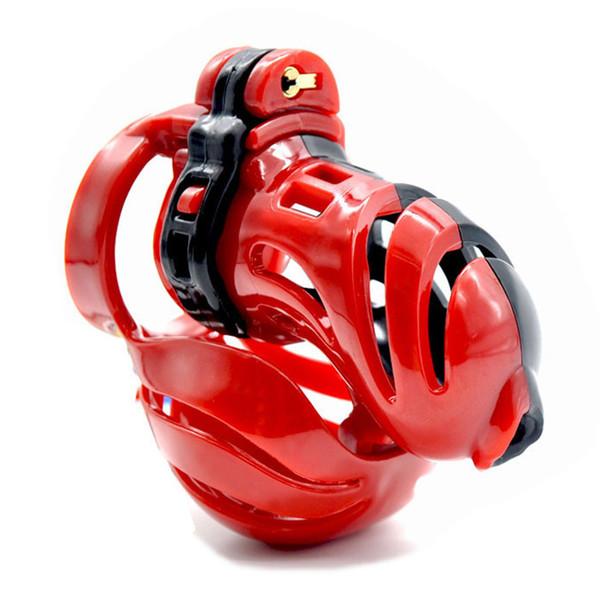 Envío gratuito, dispositivo de castidad masculino de diseño 3D, jaula de corona, cierre de virginidad, anillo de pene de 3 tamaños, anillo de gallo, cinturón de castidad
