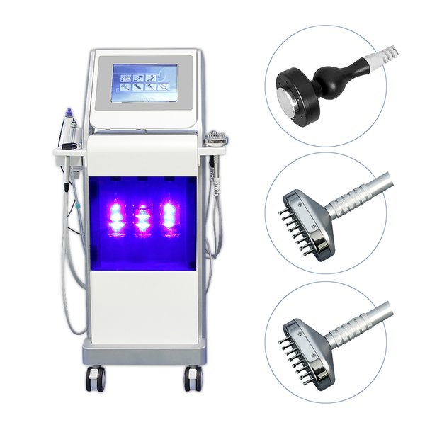 Promotion for 9 in 1 multifunction hydra dermabrasion skin scrubber ultrasound skin rejuvenation hydra facial machine deeply cleaning spa770