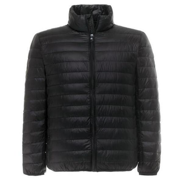 Parkas Adam Ultralight Aşağı Ceket Tüy Erkekler 90% Ördek Aşağı Açık Havada Standı Yaka Hafif Su Geçirmez kış ceket erkekler