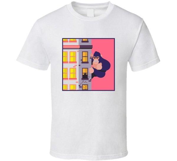 Кинг-Конг Смешные Пародия Фильм Вентилятор Футболка Мужчины Женщины Мужская Мода футболка Бесплатная Доставка