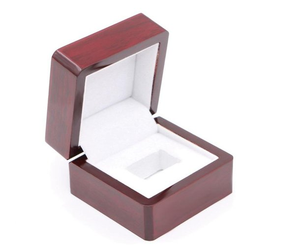 Championship Ring Display Gift Box Case - Super Bowl and Basketball World Championship Jewelry Boxes - 6.5*6.5*4.5cm - Red Retro Style