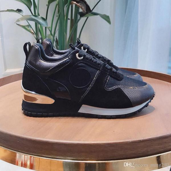 Zapatos de diseñador 2019 NUEVOS zapatos casuales de cuero de lujo Mujer Zapatillas de deporte de diseño de hombres zapatos de cuero genuino moda Color mezclado