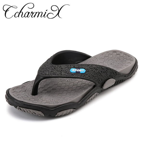 CcharmiX 2019 Mens Flip Flops Summer Men's New Style Rubber Soft Shoes Outdoor Beach Men's Slippers Massage Men Water Footwear