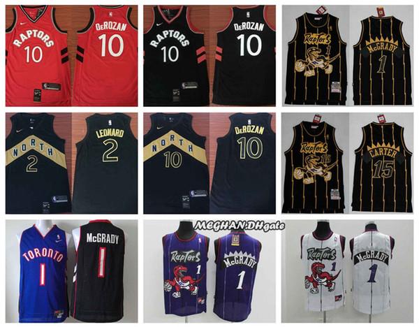 best cheap dcf73 33b26 2018 Retro Men Toronto Basketball Raptors Jersey 10 DeMar DeRozan 2 Kawhi  Leonard 1Tracy McGrady 15 Vince Carter Jerseys From Best_jersey001, $21.11  | ...