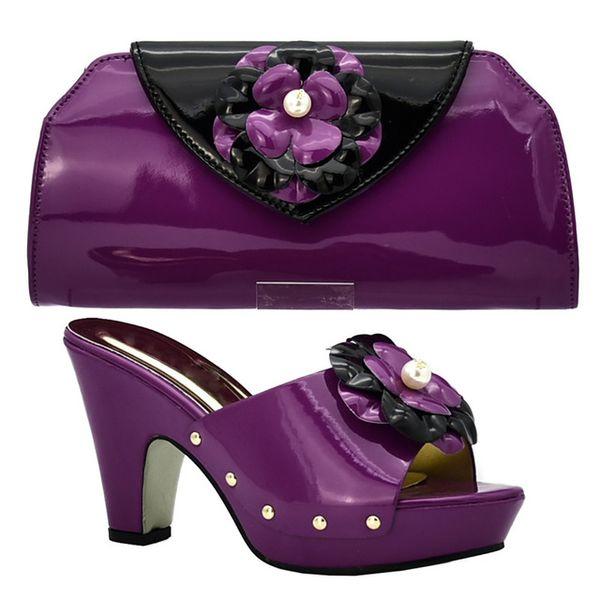 2019 brand fashion designer luxury handbags purses Italian Heeled shoes bag set for women Glitter Bijpassende Schoenen en Tas Set Versierd m