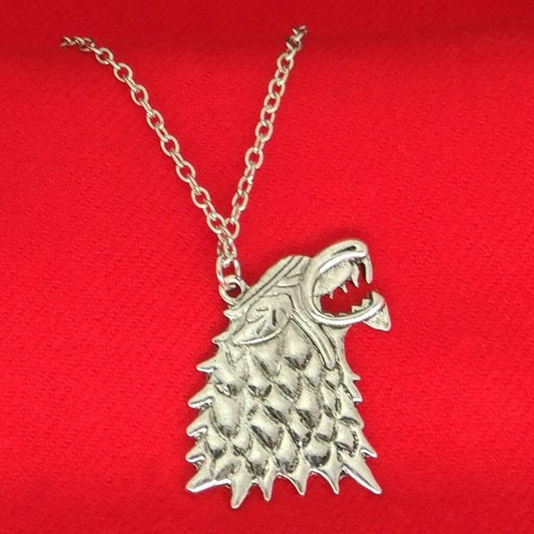 A Song of Ice and Fire Game of Thrones Winterfell Stark Wolf pendant necklace Women men Fashion jewelry 160544