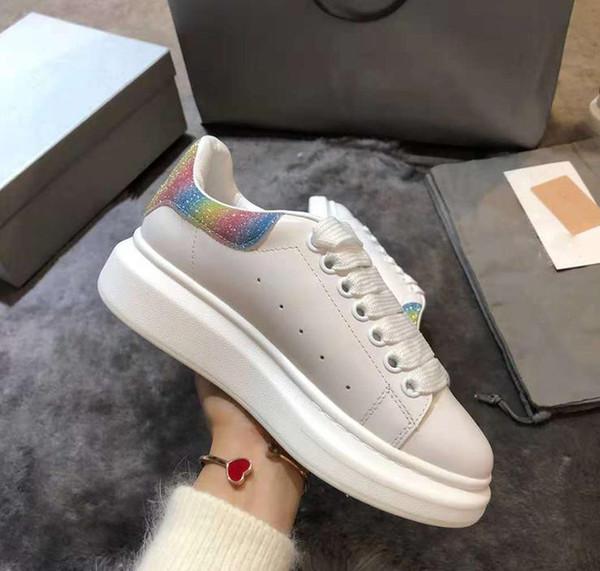 Designer Chaussures 3 M Plateforme Réfléchissante Casual Chaussures Triple Blanc Noir Hommes Femmes Appartements Amoureux Partie De Mariage 36-44