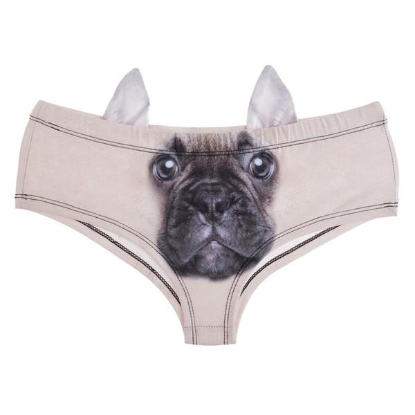 Ropa interior de verano para mujer Gato Cerdo Perro Impresión 3D Bragas sexy Mujer Calzoncillos Moda Ropa interior gris divertida