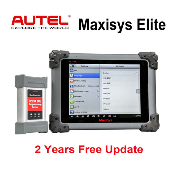 Autel Maxisys Elite Diagnostic Tool Upgraded MS908P Pro with Wifi Full OBD2 Automotive Scanner with J2534 ECU Programmer 2 Years Free Update